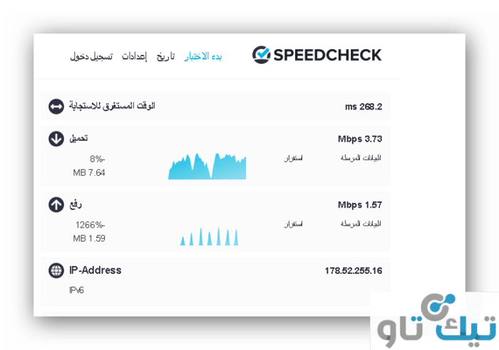 موقع speed check