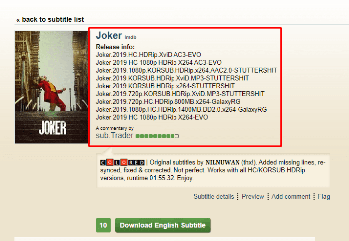 موقع تحميل subtitles