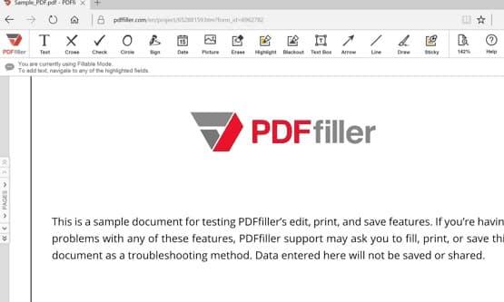 بتحميل ملف PDF باستخدام برنامج تحميل PDFfiller