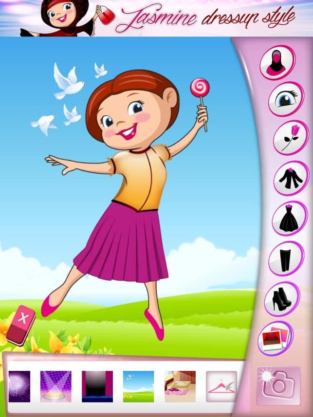 تحميل لعبة Jasmine dress up style للايباد